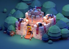Low Poly Castle, Paul Chambers on ArtStation Game Design, Bg Design, Isometric Art, Isometric Design, Environment Concept Art, Environment Design, Game Environment, Paul Chambers, Zbrush