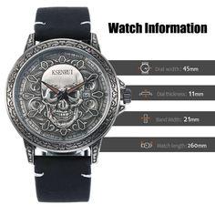 Fashion SKULL Men Watches Top Brand Luxury Retro Leather Casual Quartz Wrist Watches Men Male Date Clocks Relogio Masculino-in Quartz Watches from Watches on AliExpress Wrist Watches, Watches For Men, Quartz Watches, Clocks, Skull, 3d, Retro, Luxury, Casual