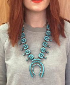 Drooling over this vintage Blossom Turquoise Necklace at By George in Austin, Texas
