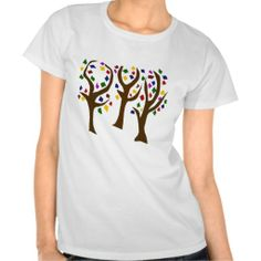 Colorful Rainbow Art Trees T-shirts #trees #art #nature #shirts And www.zazzle.com/naturesmiles*