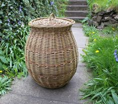 Linen basket by John Cowan Baskets  (woven in one willow colour)