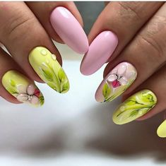 Flowers do not always open, but the beautiful Floral nail art is available all year round. Choose your favorite Best Floral Nail art Designs 2018 here! We offer Best Floral Nail art Designs 2018 .If you're a Floral Nail art Design lover , join us now ! Neon Nail Art, Colorful Nail Art, Floral Nail Art, Neon Nails, Arte Floral, Nail Art Designs, Flower Nail Designs, Nail Designs Spring, Classy Nail Art