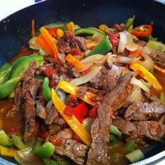 Slow Cooker Pepper Steak (with recipe) - great make-it-in-advance healthy meal, for when we know we're going to have a busy day. #additudemag and #adhdplate