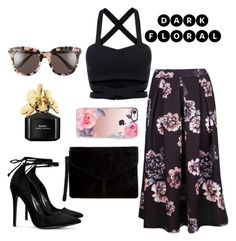 """""""Dark floral"""" by leafashionpro ❤ liked on Polyvore featuring Boohoo, Miss Selfridge, Casetify, Gentle Monster and Marc Jacobs"""