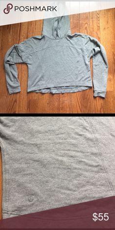 Super soft Lulu cropped hoodie Perfect condition. So comfortable & flattering lululemon athletica Tops Sweatshirts & Hoodies