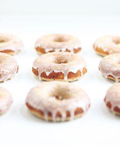 Gluten Free Lemon Poppy Seed Doughnuts | thefauxmartha.com