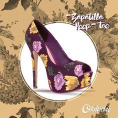 zapatillas peep toe #Okilucky #Otoño