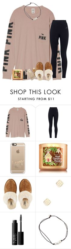 """""""Comment what you want for Christmas!"""" by kyliegrace ❤ liked on Polyvore featuring beauty, Victoria's Secret, NIKE, Casetify, UGG, Kendra Scott and NARS Cosmetics"""