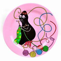 #Barbamama melamine XL plate from www.kidsdinge.com  https://www.facebook.com/pages/kidsdingecom-Origineel-speelgoed-hebbedingen-voor-hippe-kids/160122710686387?sk=wall