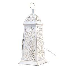 Lámpara metálica grabada tipo pirámide #iluminacion #decoracion #lamparas #regalos