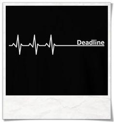 Deadline ;) von Picopoc / Shirt / T-Shirt. Der richtige Deadline. Männergeschenke / apparel / print #Geschenkidee #cool #lustig #Öko #fair #bio #mode #tshirt #berlin