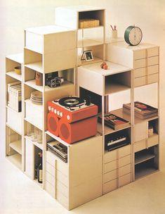 Mid Century Vintage Home Decor Storage Cubes.