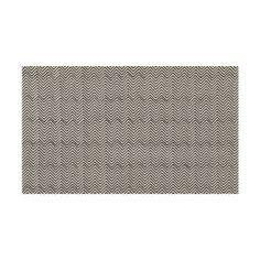 Madeline Weinrib - Andrew Martin: Black Chevron Blockprint Fabric