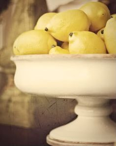 "I love lemons!  Love them in my water, tea, hand soap and nothing smells better on my hands than fresh lemon juice.  Makes me say, ""Thank you, God."" everytime I smell it!  And I love them as decor, too."