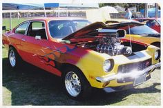 ✪☯☮ॐ American Hippie Hot Rod ~ Muscle, Blown Chevy Vega
