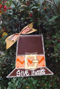 Thanksgiving Door Hanger Piligrim Hat Door By BluePickleDesigns, $25.00