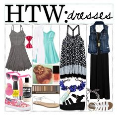 """""""HTW Dresses"""" by xo-celebritystyle-xo ❤ liked on Polyvore featuring Aéropostale, Free People, Abercrombie & Fitch, Vans, Forever 21, Bourjois, OPI, Topshop, MIA and Urban Decay"""