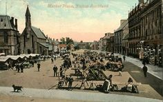 The Market Place in Bishop Auckland, Durham, Newcastle, Street View, England, History, City, Places, Historia