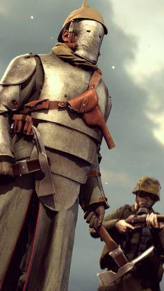 Diesel Knight Elite by Tbonemeister on DeviantArt Military Art, Military History, Military Guns, Character Inspiration, Character Art, Character Design, Diesel Punk, Steampunk Armor, Ww1 Art