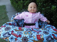 Pirates baby shopping cart cover/ high chair by littlestitches59, $40.00