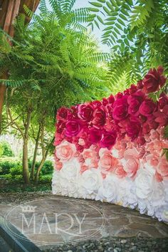 Ombre flower backdrop. This is beautiful and EXPENSIVE