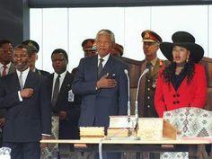 South Africa's new President Nelson Mandela. 1994