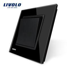 Livolo Manufacturer, Black Crystal Glass Panel, EU Standard Luxury Push Button Switch, VL-C7K1-12 #Affiliate