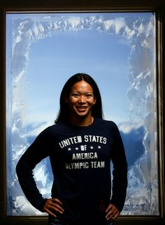 Julie Chu Photos - Ice hockey player Julie Chu poses for a portrait during the 2010 U. Olympic Team Media Summit at the Palmer House Hilton on September 2009 in Chicago, Illinois. Women's Hockey, Hockey Players, Julie Chu, Chase Field, Us Olympics, Los Angeles Dodgers, Images, United States, Graphic Sweatshirt