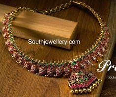 Ruby Necklace latest jewelry designs - Page 18 of 53 - Indian Jewellery Designs Ruby Jewelry, Wedding Jewelry, Gold Jewelry, Jewelery, Gold Bangles, Statement Jewelry, Mango Mala Jewellery, Mango Necklace, Gold Jewellery Design