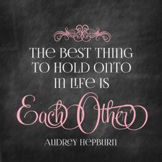 Audrey Hepburn Printable Quote Chalkboard