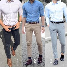 "6,447 Likes, 225 Comments - Modern Men Casual Style (@modernmencasualstyle) on Instagram: ""1,2 or 3? Pick your favorite casual. #modernmencasualstyle"""