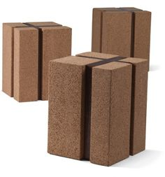 CORK AND WALNUT SIDE TABLE  Materials: High-density cork and walnut Dimensions: 12 to 16W x 12 to 16H  Options: Size, materials