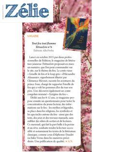Zélie, le magazine en ligne féminin 100% chrétien et 100% gratuit, nous a fait un joli article dans son édition d'avril 2016. Merci à Solange. Le TétrasLire est en vente sur www.albaverba.fr