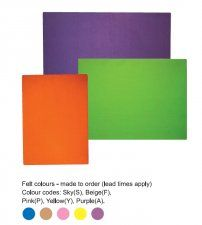 Felt pin boards with or without an aluminium frame in a variety of sizes and colours Pin Boards, Office Furniture, Chart