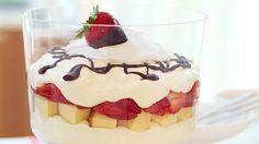 Layered Strawberry Cheesecake Bowl