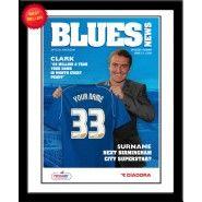 Birmingham City Personalised Magazine Cover Personalised Football, Gifts For Football Fans, Birmingham, Blues, Magazine, Baseball Cards, City, Cover, Custom Football
