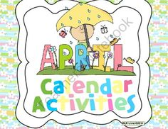 April Calendar Activities of Language - Free updates from SLPrunner on TeachersNotebook.com -  (11 pages)  - calendar skills the language tasks of following directions, auditory processing, sequencing, understanding concepts, and more