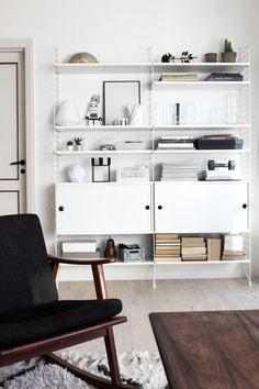Scandinavian interior styling, string styling, via http://www.scandinavianlovesong.com/