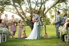 outdoor wedding ceremony at Brookside Farms in Louisville, Ohio