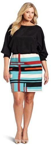 Jessica Simpson Women's Plus-Size Mondrian Stripe Dress