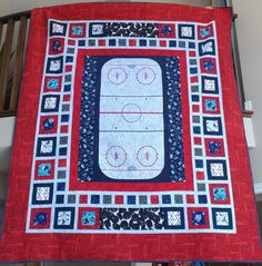 how to make a hockey quilt