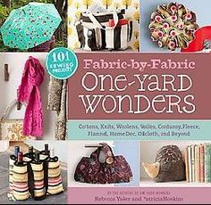 @Overstock - The best-selling authors of One-Yard Wonders are back with an all-new collection of 101 sewing projects that each require just one yard of fabric!?This time, the projects are organized by fabric type. From home dec to knits, wool to flannels, co...http://www.overstock.com/Books-Movies-Music-Games/Fabulous-Fabric-One-yard-Wonders-Mixed-media-product/5715087/product.html?CID=214117 $19.57