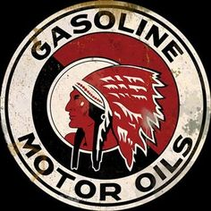 Red-Indian-Motor-Oil-Sign