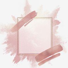 Pink brush strokes and rose gold frame on transparent background PNG and PSD Rose Gold Backgrounds, Rose Gold Wallpaper, Framed Wallpaper, Cute Wallpaper Backgrounds, Pink And Gold Background, Logo Background, Background Patterns, Pink Backround, Fond Design
