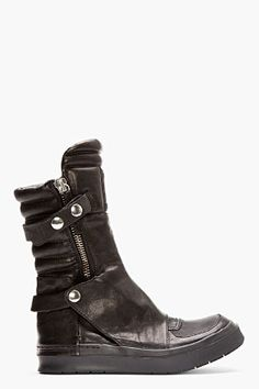 CA BY CINZIA ARAIA Black Leather New Jump Boots | FW2013