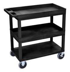 2 Flat and 1 Tub Shelf Utility Cart