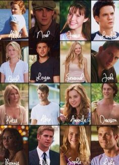 The whole squad of the Nicholas Sparks Movies Crew The Notebook Nicholas Sparks, Nicholas Sparks Novels, Sad Movies, Series Movies, Movies And Tv Shows, Nickolas Sparks, Great Movies To Watch, Sparks Movies, The Longest Ride Quotes