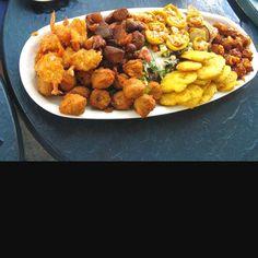 Haitian sample platter