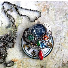 Necklace  STEAMPUNK  The BUTTERFLY EFfeCT  Large by Msemrick, $34.00