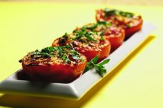 Roasted Tomatoes. Recipe: http://fooddaycanada.ca/recipes/roasted-tomatoes/